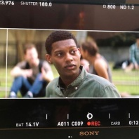 Shane Paul McGhie as Landon on set. From @aftermovie on Instagram